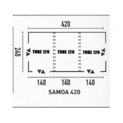 TUBE POUR AUVENT SAMOA 350